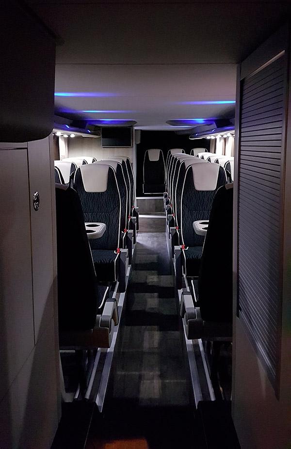 autocar double étage intérieur