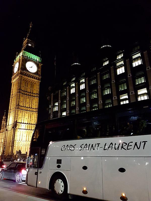 voyage en autocar à Londres