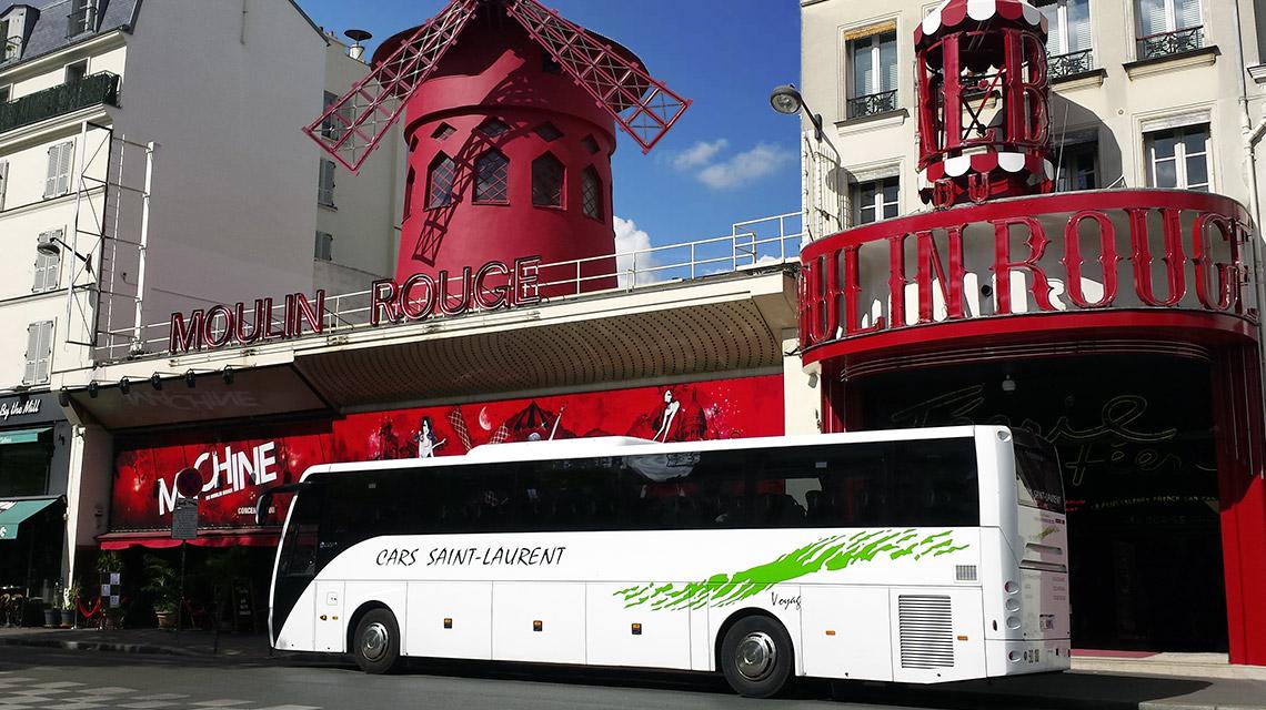 voyage en autocar au moulin-rouge à Paris